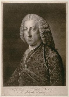 """15.8; Houston, Richard (Printmaker), Hoare, William (after);  William Pitt, 1st Earl of Chatham, 1766 """"The painter William Hoare produced numerous adaptations of his portrait of William Pitt, prime minister of England. This print was issued in 1766, the year Pitt assumed the post of prime minister for the second time."""""""