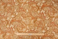 Mill Creek Whistler - Cliffside Printed Linen Drapery Fabric in Nectar $11.95 per yard