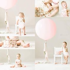 "50 Likes, 2 Comments - @amywilson0908 on Instagram: ""A giant pink balloon for this special one year old! #amywilsonphotography #sneakpeek #almostone…"""