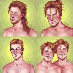 Harry Potter - Bill, Charlie, Percy, Fred and George Fanart Harry Potter, Mundo Harry Potter, Harry Potter Artwork, Harry Potter Drawings, Harry Potter Fandom, Harry Potter Characters, Harry Potter World, Harry Potter Hogwarts, Harry Potter Memes