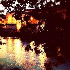 "@ilaria_agostini's photo: ""Tevere river by night"""