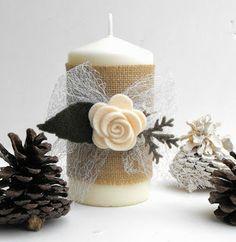 Versierde kaars Robe di Robi: Un Natale di luce