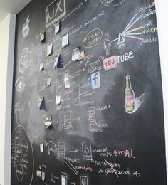 A huge chalkboard for office - so much cooler than a whiteboard! (Process: UX design at Snowman Labs) Design Thinking, Web Ui Design, Graphic Design, Human Centered Design, Ui Design Inspiration, User Experience Design, User Interface Design, Interactive Design, Data Visualization