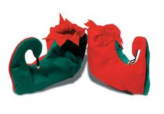 "ELF SHOES -  Felt shoes with bells on the toes!  10"" soles fit most."