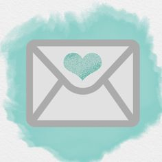 AESTHETIC ICON, EMAIL ICON, WATERCOLOR ICON