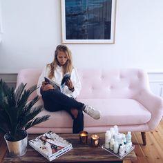 Lyserøde Herman hos smukke @emilielilja ♡  #sofakompagniet #sofa #herman #boligindretning #boliginspiration #danskdesign #danishdesign #scandinaviandesign