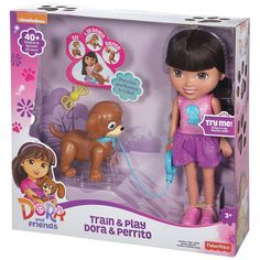 Nickelodeon Dora & Friends Train & Play Dora and Perrito by Fisher-Price, Multicolor