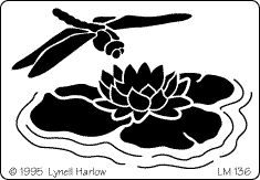 Dragonfly Lily Pad Stencil