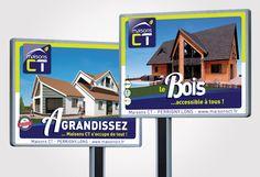 Campagne d'affichage 4X3 - Maisons CT