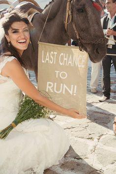 Fun wedding ideas! http://www.love4wed.com/beach-wedding-mykonos/ #mykonosbride #mykonos #destinationwedding #burlapweddingsign #lastchancetorun