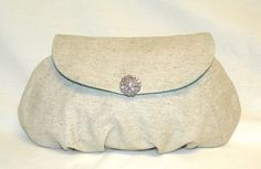 Pleated Clutch With Flap Closure by bagsbystacey on Etsy