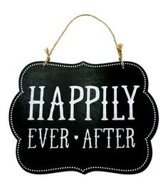 Make It Love It™ Chalkboard Plaque- Happily Ever After