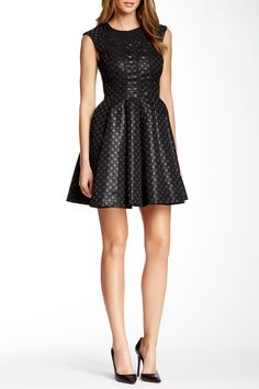 Dotted Lame Jacquard Cap Sleeve Dress by Jill Jill Stuart on @nordstrom_rack