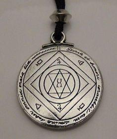 Extreme GOOD LUCK Talisman JUPITER SOLOMON Magick SEAL Success pendant necklace