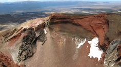 The Red Crater, the high point of the Tongariro Crossing.