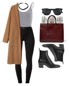 A fashion look from January 2017 featuring J Brand leggings, Christian Louboutin ankle booties and Yves Saint Laurent tote bags. Browse and shop related looks. Fall Winter Outfits, Autumn Winter Fashion, Summer Outfits, Baskets Louis Vuitton, Trendy Outfits, Fashion Outfits, Casual College Outfits, Fashion Tips, Modelos Fashion