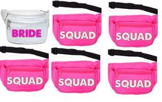 Custom Order for Maggie,Fanny Packs, Bachelorette Parties, Neon Fanny Packs,Bride to be,Bridal Party,Bachlorette Swag,Squad,Pink, Bags, Neon by FutureMrsToBee on Etsy