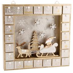 Party Ark's 'Gold & Silver Wooden Christmas Window Advent Calendar Box', $60