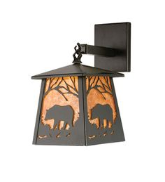 Grizzly Lantern Wall Sconce