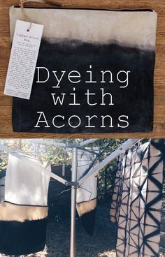 Greasy article about dyeing with acorns and iron (using rusty objects around the house)