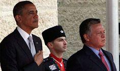 US President Barack Obama and Jordan King Abdullah II in Amman, Jordan