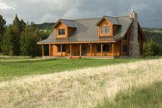 Powell, MT #9952 Log Home   Real Log Homes since 1963   Custom Log Homes   Log Home Floor Plans   Log Cabin Kits