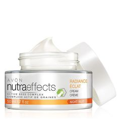 nutraeffects Radiance Night Cream Contact http://www.youravon.com/cbrenda007 to Shop and learn more.