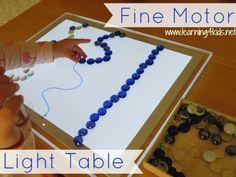Light Table Activities - Fine Motor