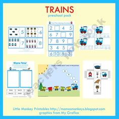 Train theme preschool pack --- free; I already downloaded it