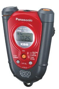 Panasonic RF-SW70R ShockWave Headphone Radio, Red by Panasonic. $79.99. Amazon.com                Keep yourself going when jogging or exercising at the gym with this lightweight, highly durable pocket-sized Panasonic RF-SW70 AM/FM radio in red. It has a stylish, rounded V-shaped body with a rugged ABS plastic exterior that's water resistant--great for training in inclement weather. This ergonomically designed radio fits comfortably in your hand and it features a hole a...