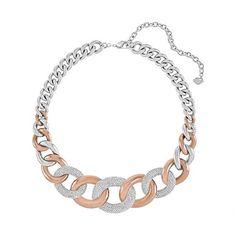 cool Swarovski Bound Large Necklace White