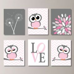 Baby Girl Nursery Art. Girl Nursery Decor. by RhondavousDesigns2