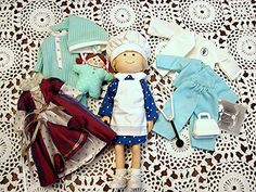 """8"""" Nicole Doll and Doll Clothes Eden Toys friend of Madeline Doll"""