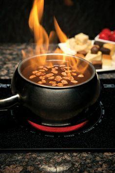 The Melting Pot Flaming Turtle Chocolate Fondue - Cabin Life Magazine