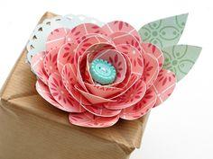 DIY flower w/bonus cutting file download Kim Watson+Rose box+OA