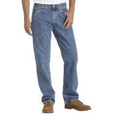 Levi's 505 Regular Jeans - Men - Shown in color Stonewashed.