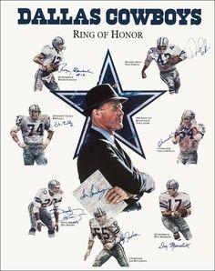 Dallas Cowboys Memorial Football Collectible Ring Of by kiss76