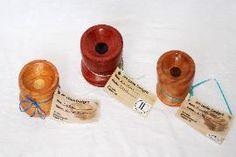 Jim Leslie Designs - Spindle Bowl 8 (middle): Bloodwood w/ ebony   centre  $45