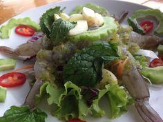 "Fresh  Shrimp in Spicy Fish Sauce. or in Thai ""Gung chae nam plaa."