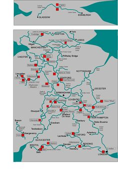map of the UK canals and rivers