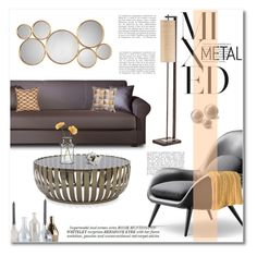 mixed metal by limass on Polyvore featuring interior, interiors, interior design, home, home decor, interior decorating, Mitchell Gold + Bob Williams, NOVA, Uttermost and Incipit