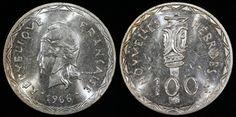World Coins - 1966 (a) New Hebrides 100 Francs BU