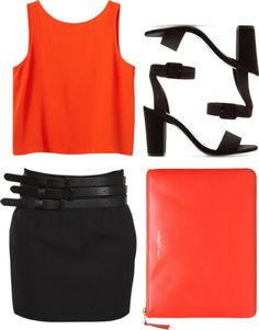 Designer Clothes, Shoes & Bags for Women Orange, Chic, Stylish, Casual, Outfit Ideas, Stuff To Buy, Outfits, Shopping, Collection