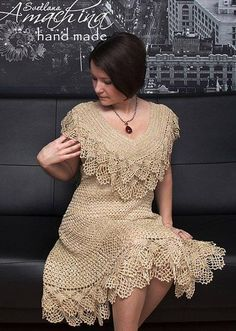 Irish crochet &: CROCHET DRESS ... ПЛАТЬЕ КРЮЧКОМ