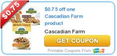 Tri Cities On A Dime: $0.75 COUPON ON  1 CASCADIAN FARM PRODUCT
