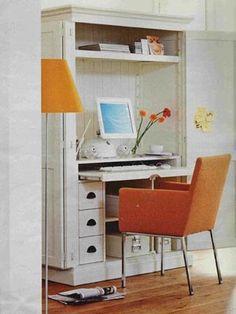 Computerschrank weiß  Computerschrank Landhausstil Holz weiß | für mich ... | Pinterest
