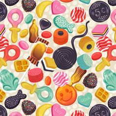 Dutch Candy pattern (Snoepgoed) fabric by irrimiri on Spoonflower - custom fabric