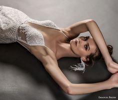 emanuel brides 2018 bridal spaghetti strap deep plugning sweetheart neckline full embellishment fringe skirt elegant glamorous sheath wedding dress (17) mv -- Emanuel Brides 2018 Wedding Dresses