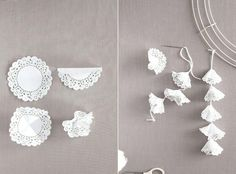 See more about paper doily crafts, paper doilies and doilies crafts. Paper Doily Crafts, Doilies Crafts, Paper Doilies, Easy Paper Crafts, Diy Paper, Diy Crafts, Wedding Crafts, Diy Wedding, Wedding Decorations
