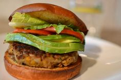 Veggie Burgers. In short, mash garbanzo beans and lentils. Add sauteed onions, bell peppers and garlic. Add brown rice and toasted chopped walnuts to the mash. Form into patties. Cook on a hot skillet. Eat!